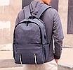 Рюкзак городской Dz Серый с usb выходом, фото 9