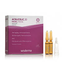 Омолаживающая сыворотка с гликолевой кислотой SeSDerma Acglicolic 20 Ampoules