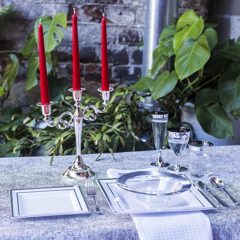 Посуда одноразовая премиум качества для праздника. Полная сервировка стола. CFP  96 шт 6 персон.