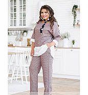 / Размер 50-52,54-56,58-60 / Женский костюм из блузы и брюк / 680-Бордо, фото 4