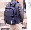 Рюкзак городской Dz Синий с usb выходом, фото 9