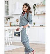 / Размер 50-52,54-56 / Женский костюм из блузы и брюк / 680-Синий, фото 4