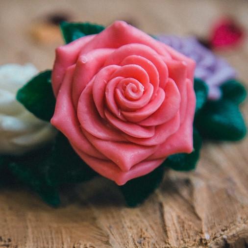Мыло ручной работы Роза, мыльная роза