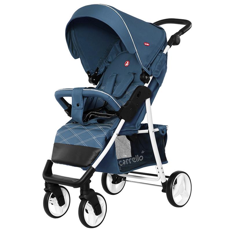 Прогулочная коляска CARRELLO Quattro c дождевиком/ Navy Blue (2020)
