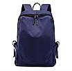 Рюкзак чоловічий міської Casual Синій з usb виходом, фото 2