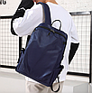 Рюкзак чоловічий міської Casual Синій з usb виходом, фото 3