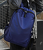 Рюкзак чоловічий міської Casual Синій з usb виходом, фото 10