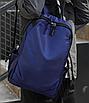 Рюкзак мужской городской Casual Синий с usb выходом, фото 10