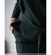 / Размер 50-52,54-56 / Женский оригинальный костюм-двойка / 696-Темно-Зеленый, фото 3