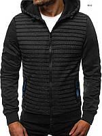 Куртка мужская весна осень J.Style 3022 графит демисезонная с капюшоном