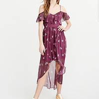 Женское фиолетовое макси платье с цветочным принтом  Abercrombie & Fitch, фото 1
