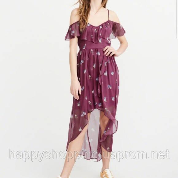 Женское фиолетовое макси платье с цветочным принтом  Abercrombie & Fitch
