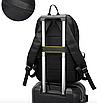 Рюкзак міський Casual Чорний з usb виходом, фото 5