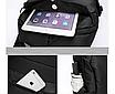 Рюкзак міський Casual Чорний з usb виходом, фото 8