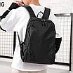 Рюкзак міський Casual Чорний з usb виходом, фото 3