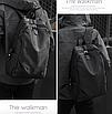 Рюкзак міський Casual Чорний з usb виходом, фото 4