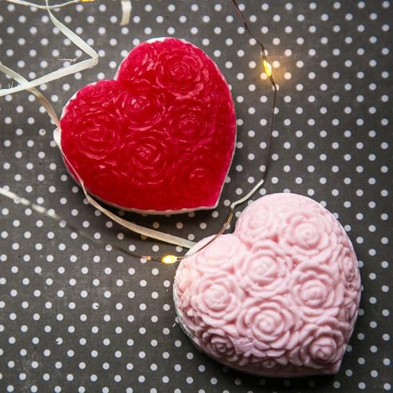 Мыло ручной работы Цветочное сердце