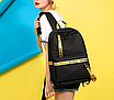 Рюкзак городской молодежный Off White черно желтыми вставками, фото 3