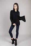 ELEXA Теплая кофта с шарфом - черный цвет, M/L