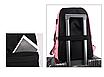 Рюкзак городской молодежный Off White черно красными вставками, фото 2
