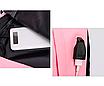 Рюкзак городской женский Off White бирюзовый с желтыми вставками, фото 3