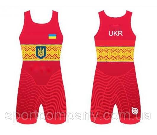 ТРИКО СБОРНОЙ УКРАИНЫ UWW UKRAINE RED 2017