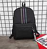 Рюкзак молодіжний Black світловідбиваючий, фото 4