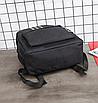 Рюкзак молодежный Black светоотражающий, фото 5