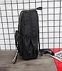 Рюкзак молодіжний Black світловідбиваючий, фото 6