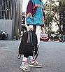 Рюкзак молодежный Black светоотражающий, фото 3