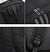 Рюкзак молодіжний Black світловідбиваючий, фото 8