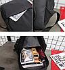 Рюкзак молодіжний Black світловідбиваючий, фото 9