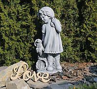 Садовая фигура для сада Девушка из провинции серый 26×20.5×60.5cm