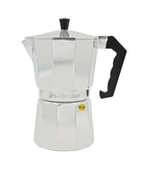 Кофеварка на 6 чашек гейзерная Kamille KM-2501 из алюминия 300 мл
