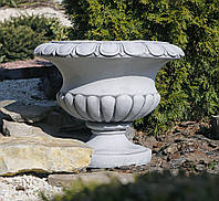 Садовый цветочный горшок серый 49.5×49.5x39 cm