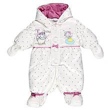 Детский комбинезон для девочки Одежда для девочек 0-2 BRUMS Италия 133bcay002 Белый весенняя осенняя