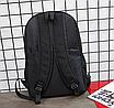 Рюкзак молодіжний Black світловідбиваючий, фото 7