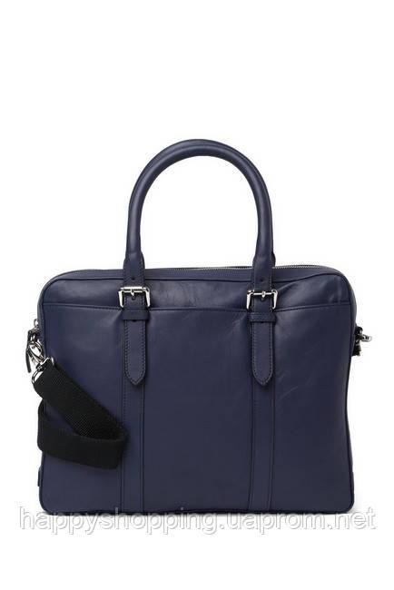 Мужская синяя кожаная сумка Cole Haan