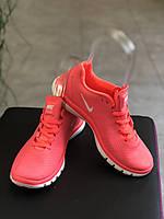 Женские кроссовки для бега и фитнеса Nike free 3.0 оранжевого цвета