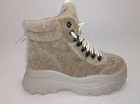 Женские зимние спортивные ботинки на шнурках  ТМ Lonza, фото 1