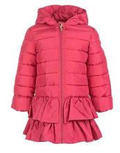 Детское пальто для девочки Верхняя одежда для девочек BRUMS Италия 163BEAA004 Красный