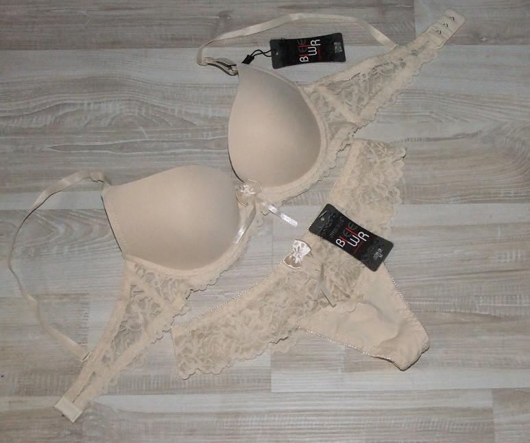 Комплект женского белья бюст+стринги арт 71290-2,на корректоре  ,чашка 75В