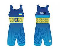 ТРИКО СБОРНОЙ УКРАИНЫ UWW UKRAINE BLUE 2017, фото 1