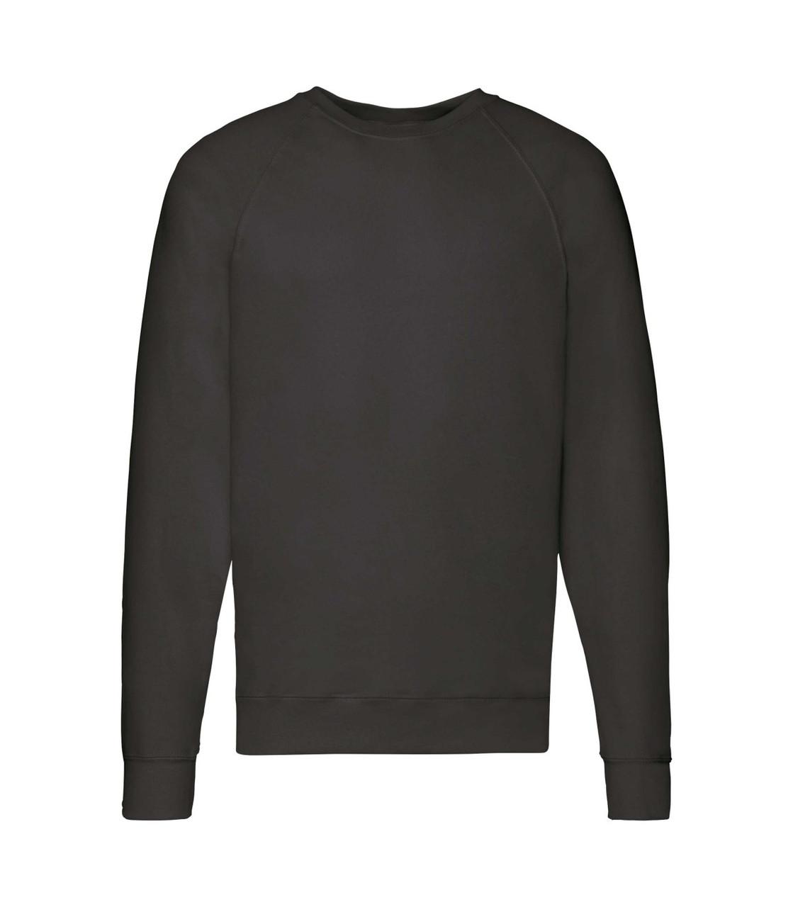 Мужской свитшот легкий черный 138-36