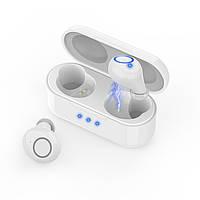 Бездротові сенсорні навушники Alitek K15 TWS Touch Білі (Bluetooth 5.0)