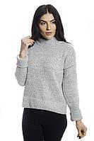 LUREX Теплая кофта с широкими манжетами - меланж цвет, XL