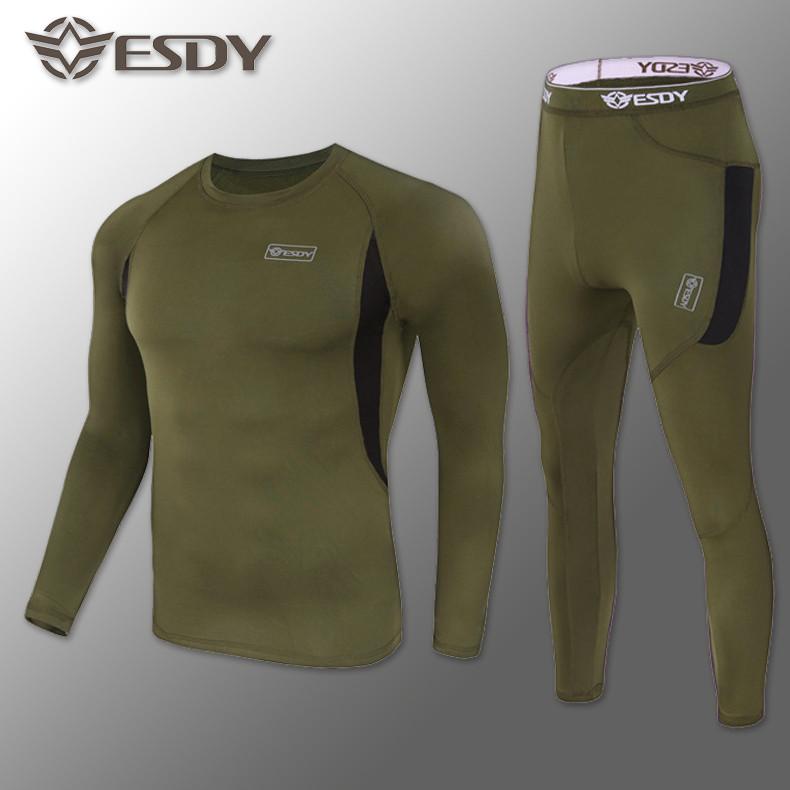 🔥 Комплект термобелья ESDY. Level-1 (олива) (флисовое термо-белье)