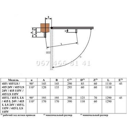 FAAC 415 L LS 24В автоматика для распашных ворот привод, фото 2