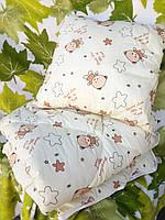 Детское одеяло овечья шерсть+ подушка