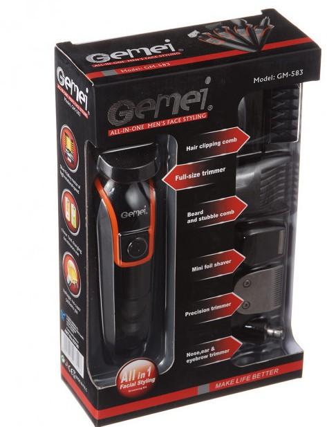 Машинка для стрижки волос, триммер GEMEI GM-583 6в1